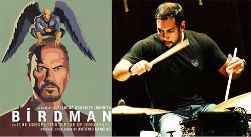 Birdman wins 4 Oscars, Antonio Sanchez composed & performed the solo improvised drum score