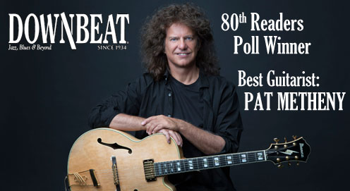 Pat Metheny wins best guitarist in Downbeat's 80th Readers Poll
