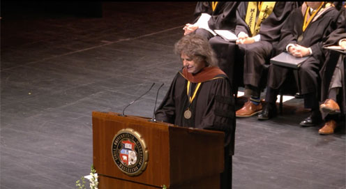 Pat Receives honorary doctorate from University of Missouri