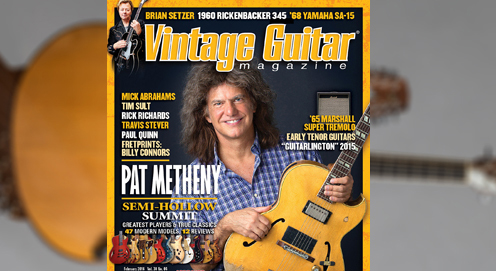 Pat Metheny discusses his career and guitar collection with Vintage Guitar Magazine